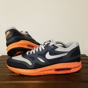 Nike Air Max Lunar1 Grey Orange sz 10.5